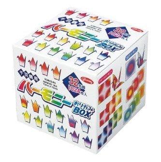 Papel Origami - Pack de Papel Origami Fantasia - Senbazuru (1000 grúas) - Harmony Box - 4 patrones fantasía surtidos - 8 combinaciones de colores - 32 hojas de cada combinación - 1024 hojas en total - 7,5cm x 7,5cm