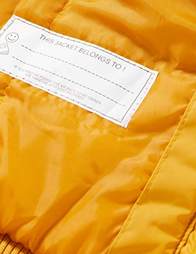 Regatta Kid's Benicia Waterproof Taped Seams Insulated Lined Hooded Jacket With Reflective Trim, MineralYellow, 9-10