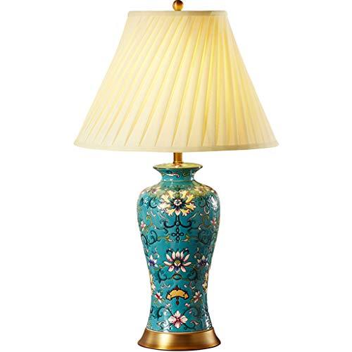 Lampe de table F Lampe de table en céramique base brossée américaine minimaliste rétro salon chambre lampe de chevet
