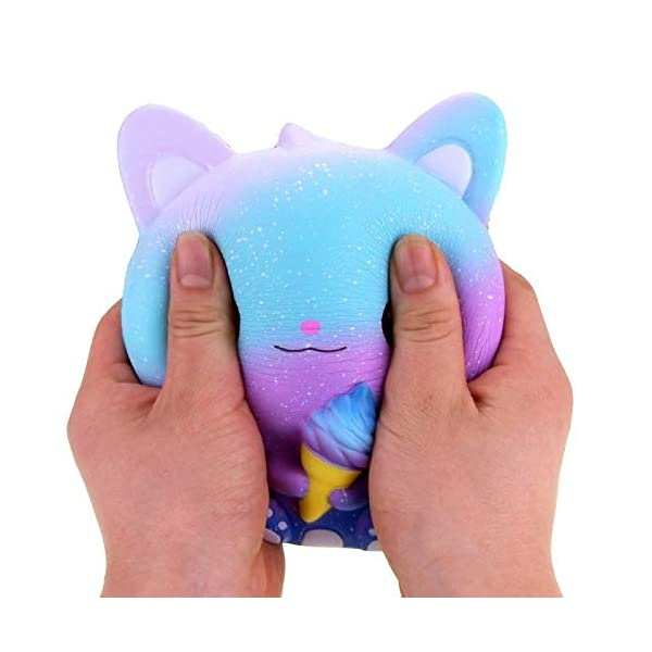 QAES Lovely Squishies, Kawaii Ice Cream Cat Penguin Unicorn Squishy, Creamy Aroma Slow Rising Squeeze Toys for Boys and Girls Gifts Soft Toy (Color : 10x10 cm) 8