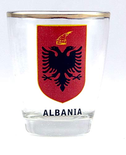 Albania Coat Of Arms Shot Glass