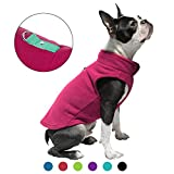 Gooby Dog Fleece Vest - Fuchsia, Medium - Premium Dog Clothes for Small Dogs Boy or Girl - Pullover Dog Jacket with Leash Ring - Small Dog Sweater for Indoor and Outdoor Use