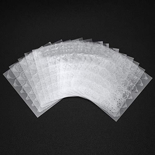Gobesty 15 Blätter Nagelkleber Aufkleber, doppelseitiges Nagelkleber Gel Tape Transparente, flexible, gefälschte Nagelspitzen für DIY Maniküre Nail Art Dekoration