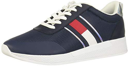 Tommy Jeans Technical Flexi Sneaker, Zapatillas Mujer, Azul Marino Crepúsculo, 37 EU