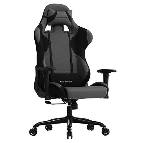 SONGMICS Bürostuhl Gaming Stuhl mit hoher Rückenlehne Formschaum gepolsterte Sitzschale...
