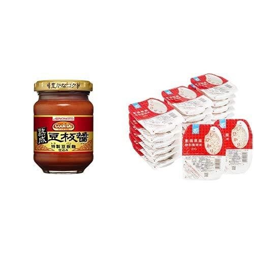 味の素 CookDo 熟成豆板醤 100g×2個 + Happy Belly パックご飯 新潟県産こしひかり 200g×20個(白米) 特別栽培米
