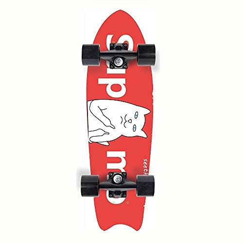 Skateboard Katze Deck,Adults Kids Skateboard,Deck Aus Hartahorn,7-Lagiger Ahorn,Mehrere Designs (77*20*10Cm)
