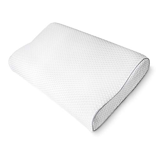 Joymax Pillows for Sleeping, Memory Foam Pillow for Neck and Shoulder Pain, Contour Cervical Orthopedic Bed Pillow for Side Back and Stomach Sleepers, with Cooling Washable Removable Pillow Case