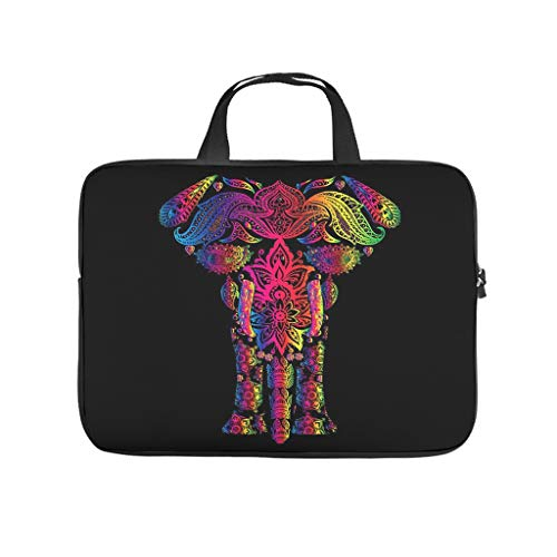 Cute Colourful Elephant Animal Laptop Bag Waterproof Laptop Protective Case Design Notebook Bag for University Work Business