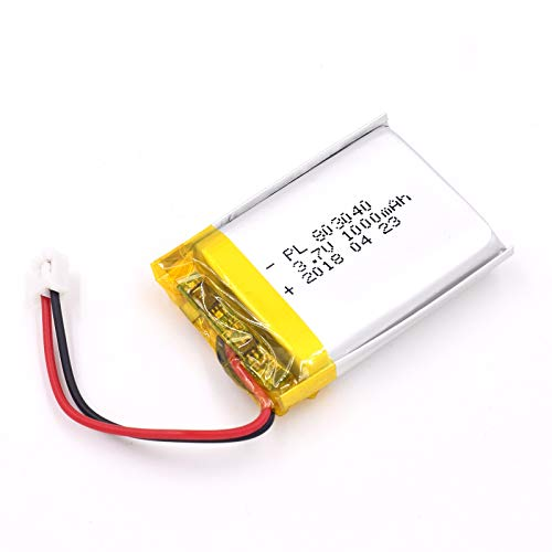 3.7V 1000mAh 803040 Lipo Battery Rechargeable Lithium Polymer ion Battery Pack with JST Connector