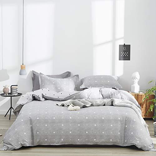 Uozzi Bedding 3 Piece Queen Adults Kids Duvet Cover Set 800 - TC Gray Luxury Modern Comforter Cover...