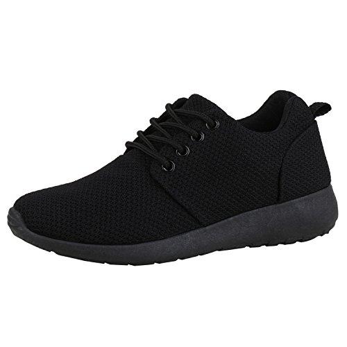 Japado Damen Schuhe Sportschuhe Laufschuhe Runners Sneakers Total Schwarz 40