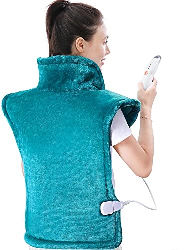 Large Heating Pad for Back and Shoulder, 24'x33' Heat Wrap with Fast-Heating and 4 Heat Settings,...