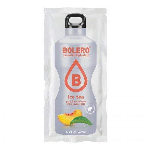 BOLERO Drinks 24 bustine da 9 grammi gusto ICE TEA PEACH - Preparato istantaneo per Bevande con Stevia e Vitamina C e Senza Zucchero