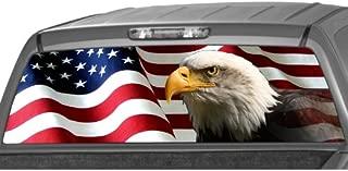 MotorINK AMERICAN EAGLE Flag stars Rear Window Graphic Decal Tint Sticker Truck suv ute