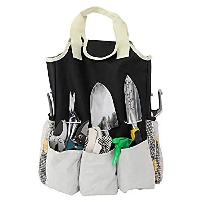 Tenozek 10PC Garden Tool Kit Grey Black