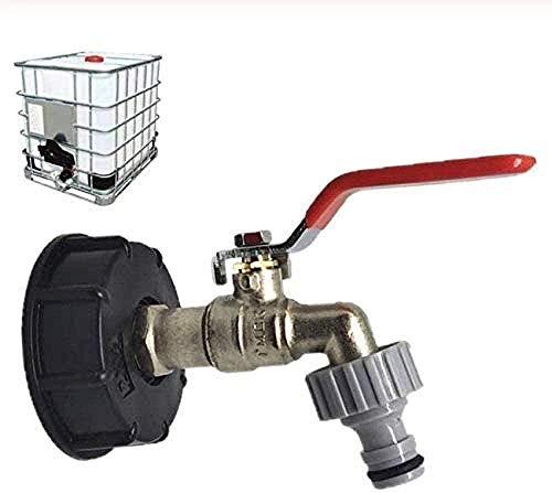 XIAOLTSHANGDIAN Grifo Adaptador de Drenaje del Tanque de Agua del Grifo Manguera de jardín Conector de tubería de Agua del Grifo Suministros de jardín de Repuesto Grifos