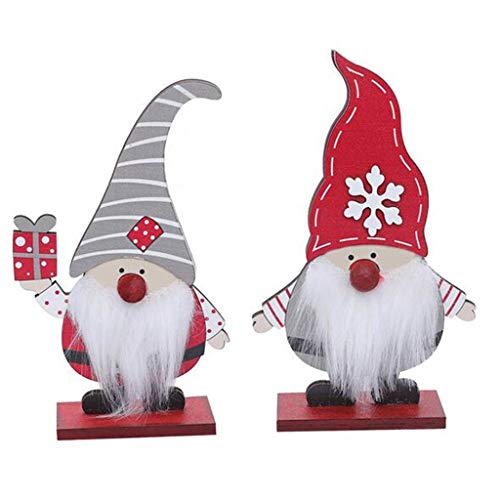 Hohaski Christmas Wooden Faceless Doll Ornaments Forest Old Man Rudolph Desktop Ornament, Christmas Ornaments Advent Calendar Pillow Covers Garland Tree Skirt Gift Bags DIY