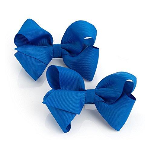 Chocolate Pickle® Nouveau Femmes Deux pièces Ruban Pince à cheveux Proue Accessoires Set Royal Blue