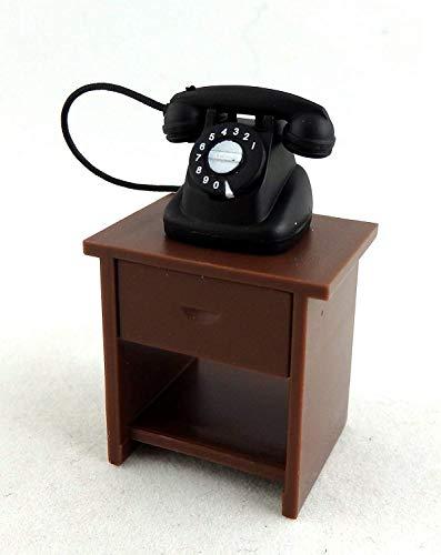 Maison De Poupées 1:24 Échelle Miniature Meuble Hall Côté Table & Téléphone Magnétique