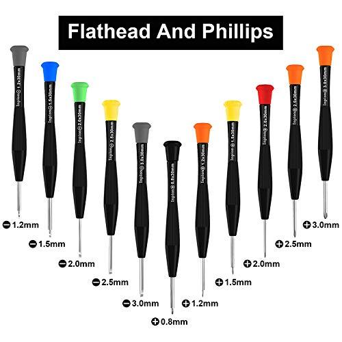 Eyeglass Screwdrivers Repair kit 11Pcs Precision Repair set for Glasses, Electronics and Watch Repair