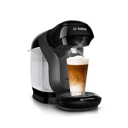 Tassimo Style TAS1102 Cafetière à capsules Bosch - Capacité de 70 boissons - Entièrement automatique - Convient pour toutes les tasses - Peu encombrant - 1400 W - Noir