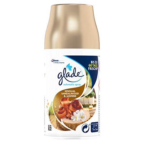 Glade (Brise) Automatic Spray Nachfüller, Raumduft, Sensual Sandalwood & Jasmine, 2er Pack (2 x 269 ml)