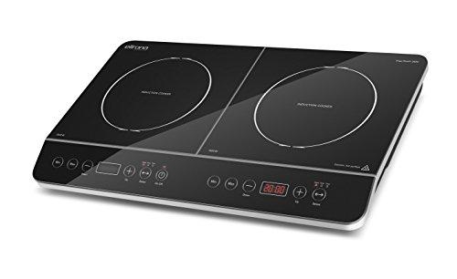 ELLRONA Ergo Touch 3500 Einzelinduktionskochplatte, schnell, sicher, energiesparend, mobil einsetzbar, 10 Leistungsstufen, 3500 Watt, Sensor-Touch Bedienung
