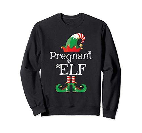 Pregnant Elf Shirt Women Pregnancy Matching Elf Christmas Sudadera