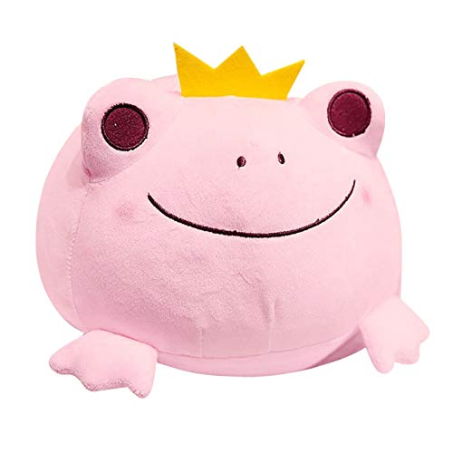 Toys for 2+ Year Old Cute Frog Prince Doll Pillow Soft Waist Cushion Stuffed Toy Birthday Gift for Boys Girls 2 3 4 5 6 7 8 9 Years Old, Home Car Decoration Pink