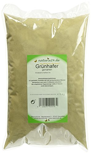 Naturix24 Hafergraspulver, Grüner Hafer gemahlen - Beutel, 1er Pack (1 x 1 kg)