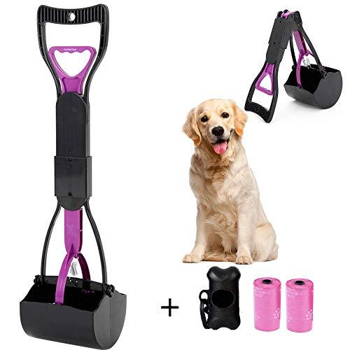 HyAdierTech Recogedor de Dientes de Mango Largo para Mascotas, Plegable, 60,96 cm, portátil, sólido dentado, para Limpieza de Arenas, Utensilios de Limpieza para Gatos y Perros al Aire Libre/Interior