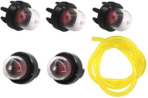 YUSHIJIA Varios Modelos Bomba de Bomba de Gasolina Piston Piston 5X con Manguera para Husqvarna 333 335 340 345# 503 93 66-0, 50393660 Partes y Accesorios