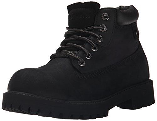 Skechers Men's Sergeants Verdict Chukka Boot,Black Waterproof Oiled Smooth Leather,11 M US