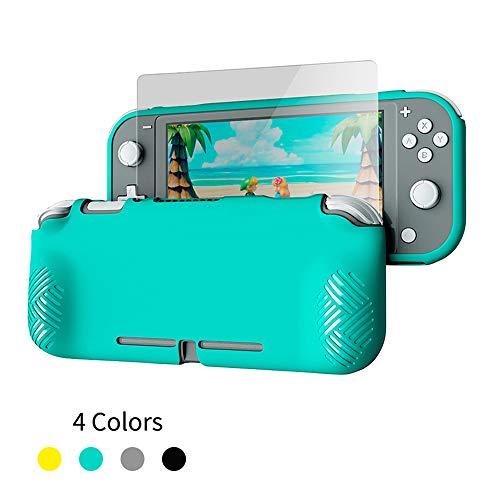 ALRY Grip voor Nintendo Switch Lite, cover gehard glas scherm beschermingsset voor de schakelaar Lite zachte TPU afdekking Shell HD-scherm bescherming