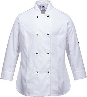 Portwest Rachel Ladies Long Sleeve Chefs Jacket, White, X-Large