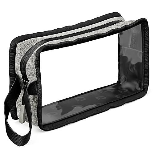 EQPMNT Kulturtasche transparent für Flüssigkeiten, ohne PVC - wasserfeste, durchsichtige Kosmetiktasche 1 Liter (1l) für Handgepäck, perfekt als Flugzeug Beutel