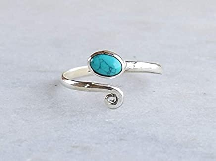 1dafae5b182 Turquoise Stone Toe ring 925 Solid Sterling Silver Girl Women Body Jewellery  Adjustable Toe Ring