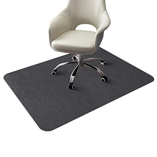 フローリング床保護マットチェアマットずれないめくれない足元マット吸音傷防止滑り止め丸洗い可能カット可能140x90cmグレー
