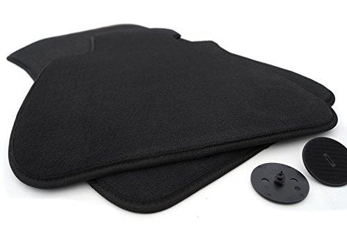 kh Teile Fußmatten/Velours Automatten Original Qualität Stoffmatten 2-teilig schwarz