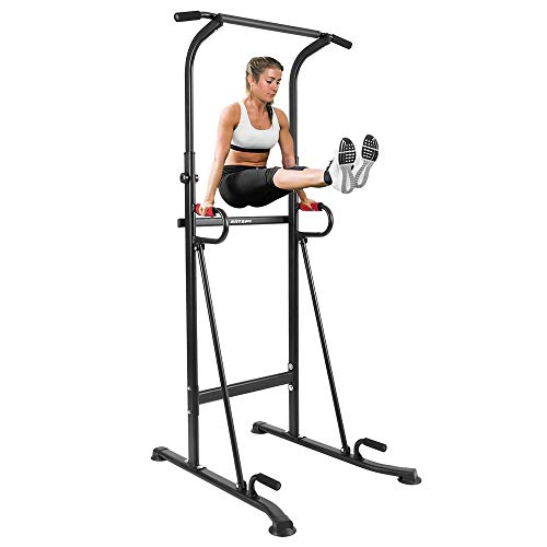 ANTOPY Power Tower Dip Station Pull Up Chin Up Home Gym Multifunctional Equipment 6 Level Adjustable Height Workout Heavy Duty Tower for Strength Training Indoor Fitness Max Weight 300lbs