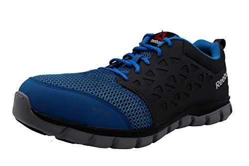 Reebok Work Men's Sublite Cushion Safety Toe Athletic Work Shoe Industrial, Blue, 10.5