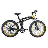 ZOSUO City Bike E-Bike 26 Zoll E-Bike Trekking Für Herren Pedelec Mountainbike 48V10AH Batterie/Shimano 7-Gang-Getriebe/Höchstgeschwindigkeit 30Km/H/Kilometerstand Aufladen Bis Zu 35-40Km,Gelb