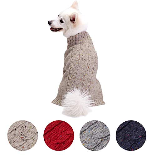 Blueberry Pet Classic Cable Knit Rosy Pink...