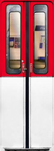 Trompe l'oeil porte Adhésif 141011 Décoration Murale, Polyvinyle, Rouge et Blanc, 83 x 0,1 x 204 cm