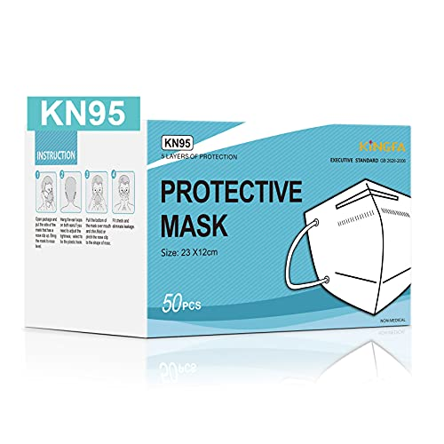 Kingfa KN95 Face Mask 50 Pcs Disposable Respirator 5-Ply Layer | GB2626-2006 Compliant