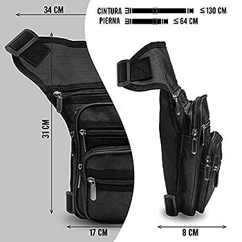 N,A Sac banane de jambe de moto pour homme Sac banane pour moto Sac de jambe imperméable Sac banane multifonction Sac banane électrique (+ 5 pochettes) et double attache unisexe
