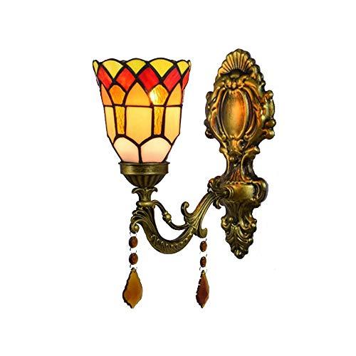 Wandlamp wandlamp wandlamp met nachtlampje van gekleurd glas voor wandmontage voor bar restaurant caffetteria elegante retro eenvoudige installatie geschikt voor de atrio Del Corridoio Di Casa Uffi