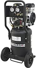 NorthStar Electric Air Compressor - 1.5 HP, 8-Gallon Vertical Tank, Portable, Quiet Operation