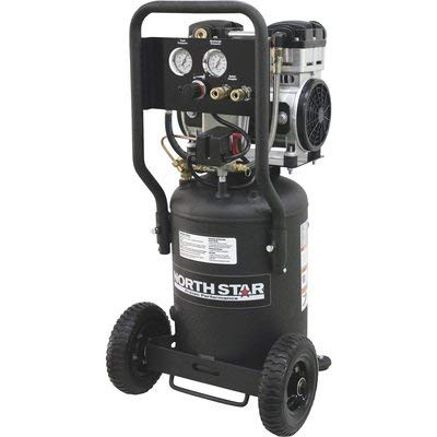 NorthStar Electric Air Compressor - 1.5 HP, 8-Gallon Vertical Tank, Portable, Quiet Operation
